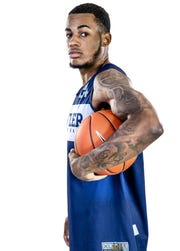 Butler Bulldogs forward Markeese Hastings (24) poses for a portrait at Butler University on Friday, Oct. 19, 2018.