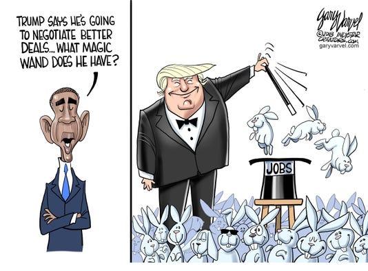 Cartoonist Gary Varvel Trump S Magic Wand