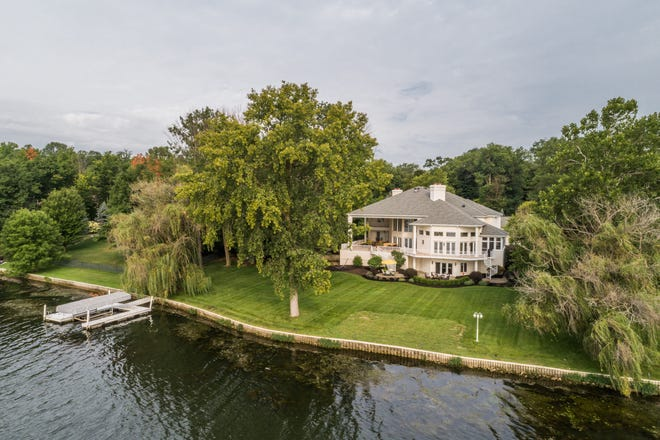 This property on 339 Breakwater Drive in Fishers is on the market for $2,650,000. The home has seven bedrooms and seven bathrooms and views of Geist Reservoir.