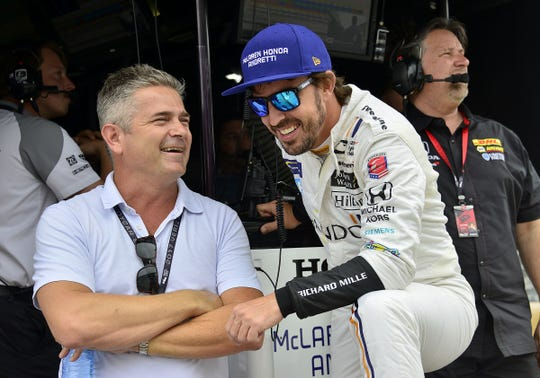 """FILE — """"It was never in my plans to do a full IndyCar season, so nothing changed for me,"""" Fernando Alonso told reporters this week in Austin."""