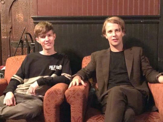 Kevin Jones, left with British singer/songwriter Tom Odell between shows at the Moroccan Lounge in Los Angeles.