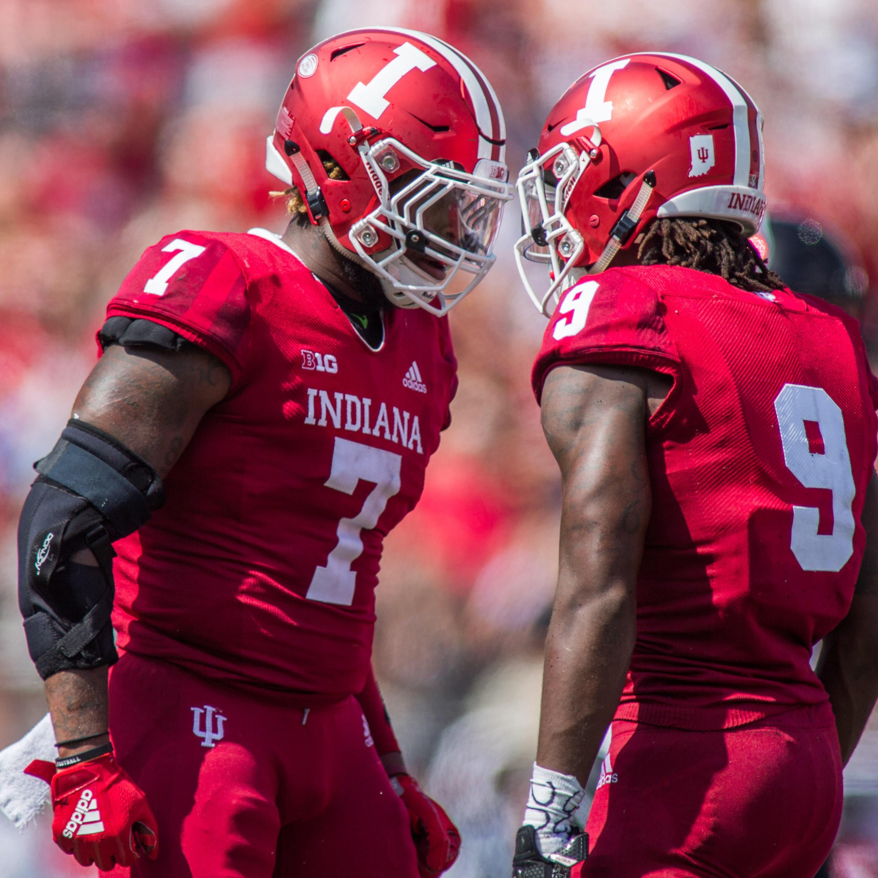 IU LB Reakwon Jones listened over the phone as Hurricane Michael destroyed his family's Florida home