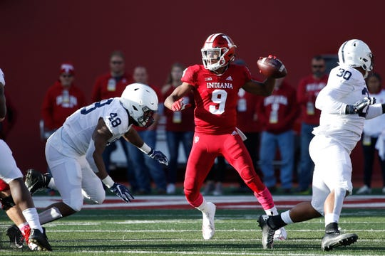 Freshman QB Michael Penix appeared in three games for the Hoosiers this season.