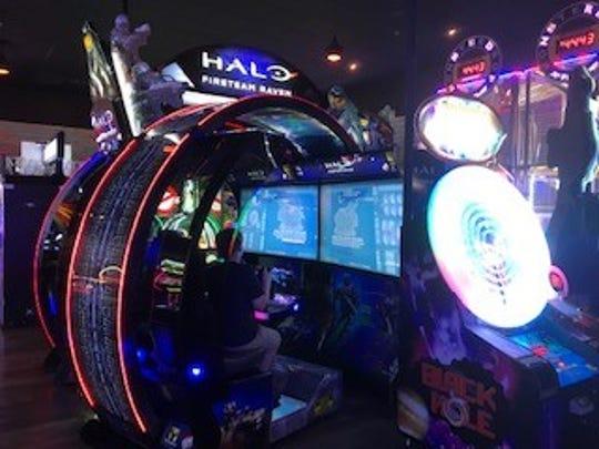 Arcade at Pinheads Bowling Center.