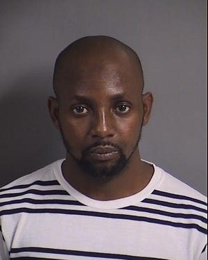 Almamy Ndiaye, 30, was arrested on a domestic abuse charge, Saturday, Oct. 20.