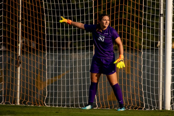 Tennessee goalkeeper Shae Yanez gets in position during a match against Vanderbilt at Regal Soccer Stadium on Oct. 7. 2018.