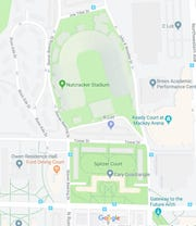 Google Maps featured a new name for Ross-Ade Stadium in West Lafayette after Purdue's 49-20 upset win over Ohio State on Saturday, Oct. 20.