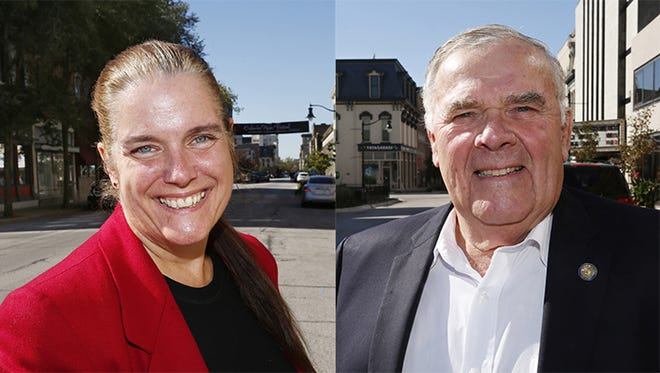 4th Congressional District candidates Democrat Tobi Beck, left, and Republican Jim Baird.