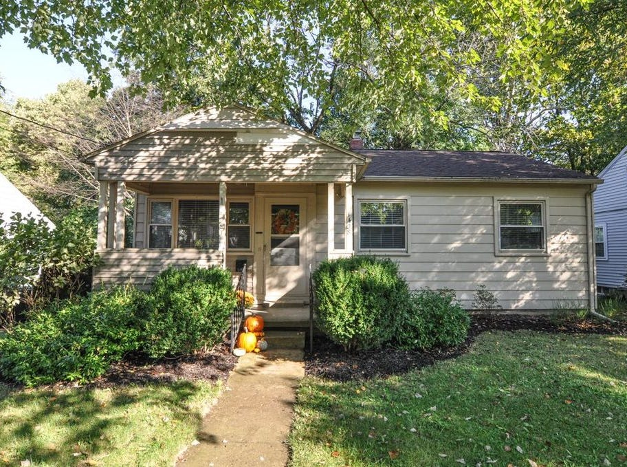 This Congress Street home offers a renovated home in the city with a woods setting for the back yard.