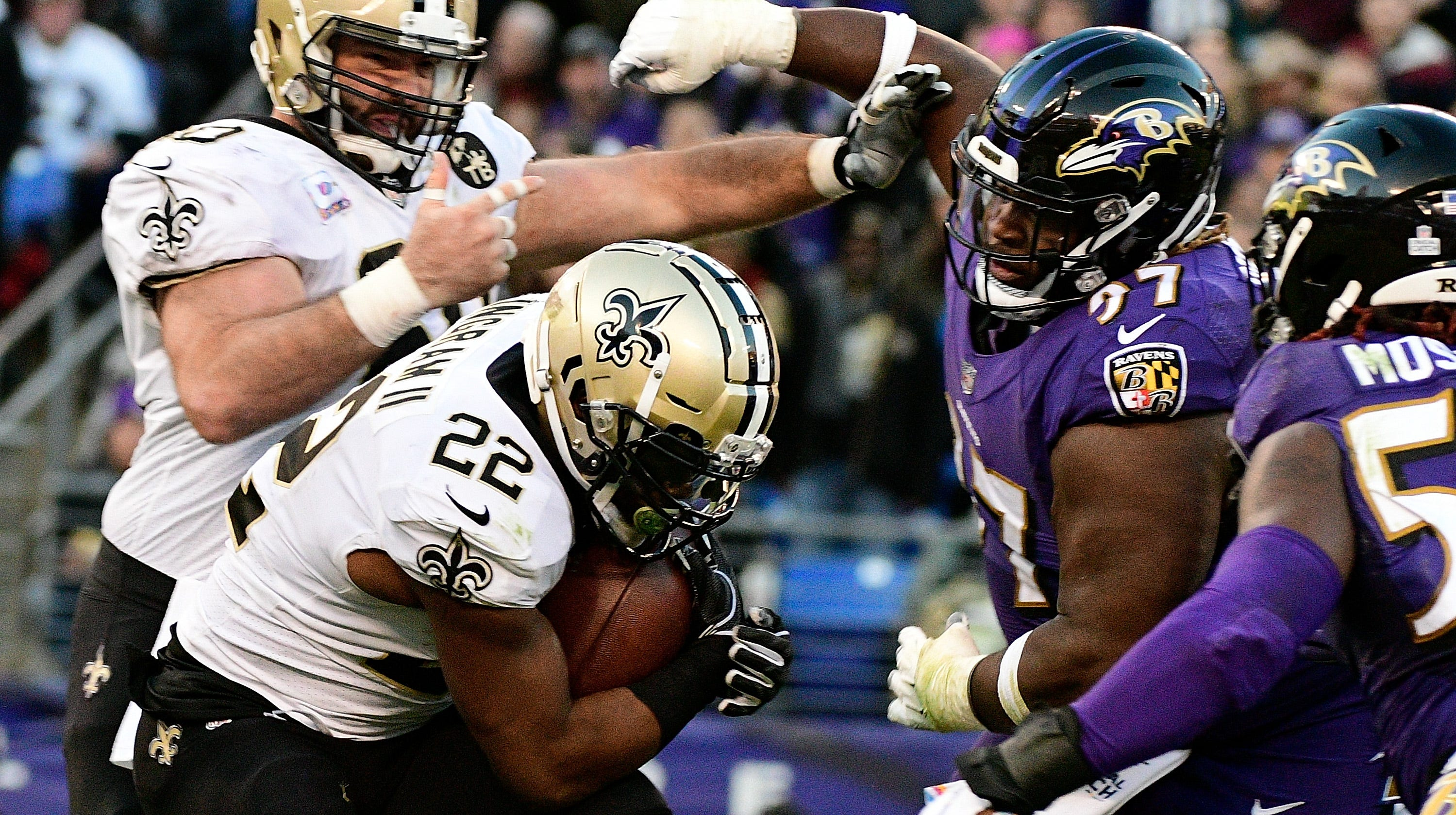Saints survive near-perfect football game