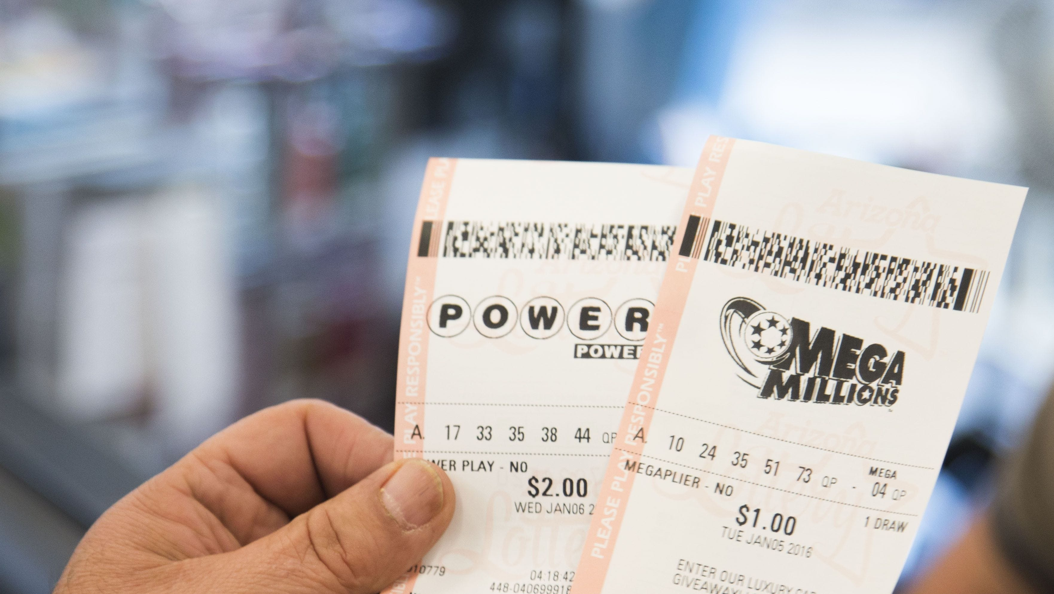 "Tickets for the Michigan Lottery Powerball and Mega Millions games. A Brighton woman will go to Las Vegas next year for a chance to win $1 billion in the ""Billion Dollar Challenge""."
