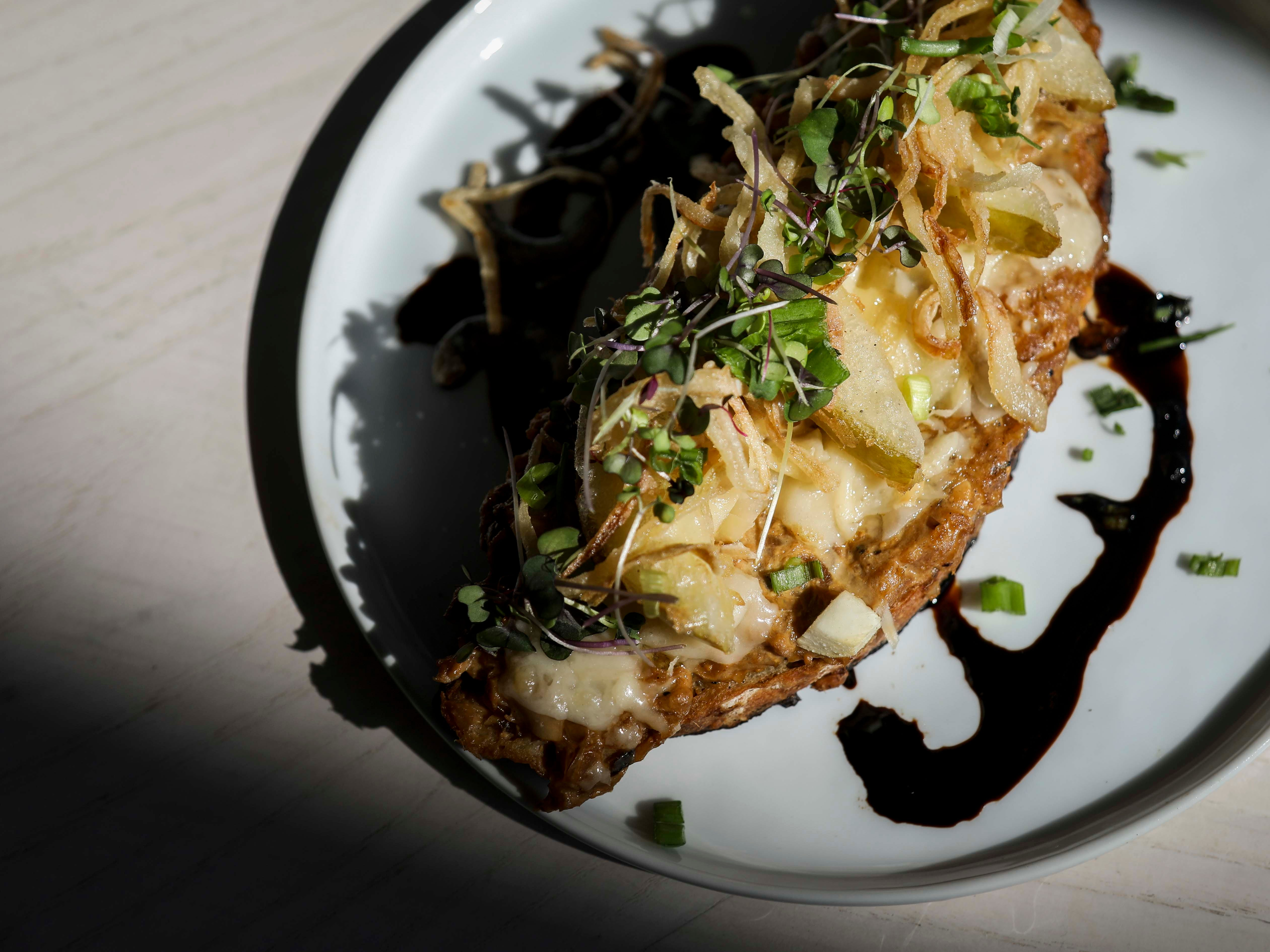 French Onion Soup Toast from Naive in NuLu on October 18, 2018.