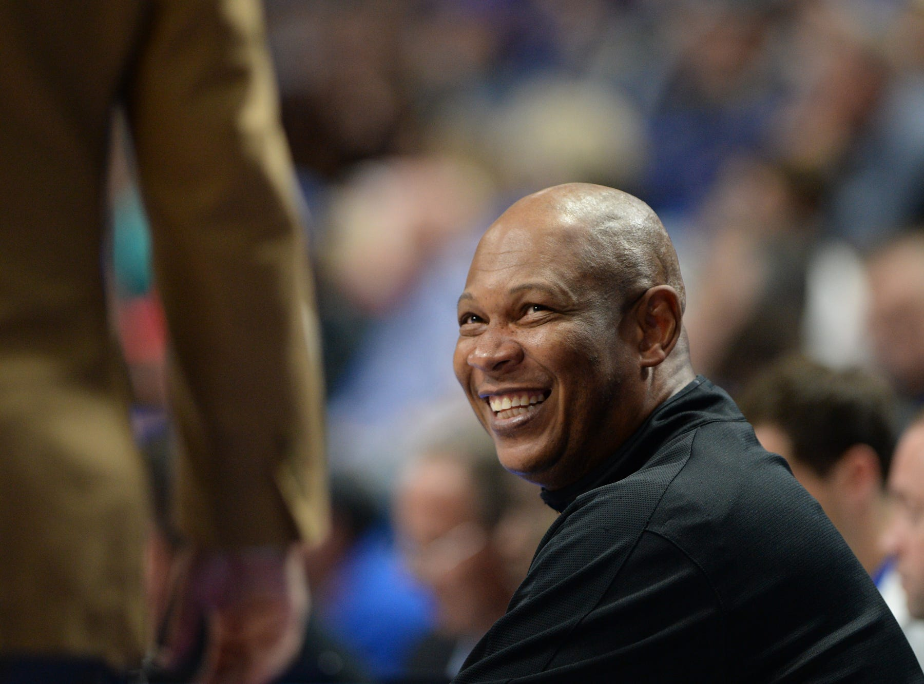UK coach Kenny Payne during the University of Kentucky mens basketball Blue/White game at Rupp Arena in Lexington, Kentucky on Sunday, October 21, 2018.