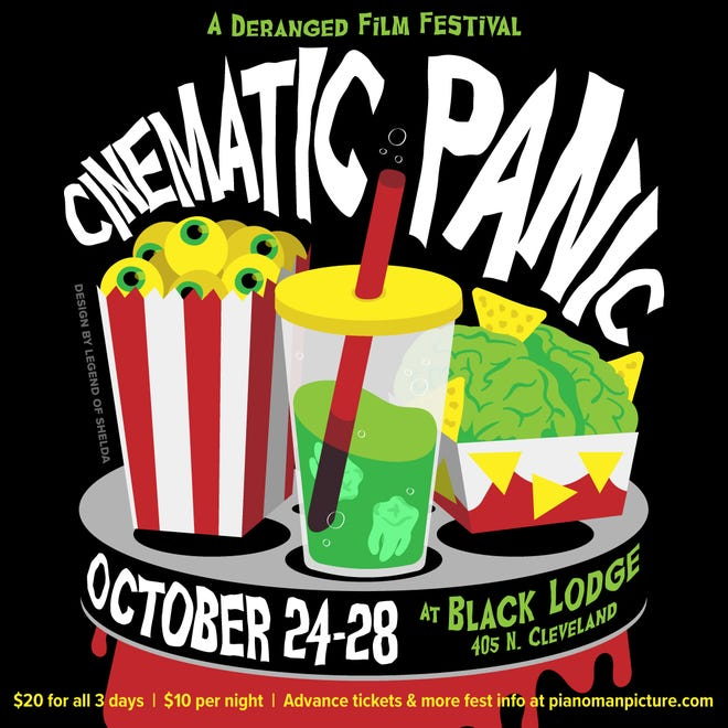 Cinematic Panic, a five-day film-and-more festival hosted by the reconstituted Black Lodge Video, is Wednesday through Sunday.