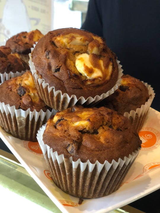 Pumpkin chocolate chip muffins from Cafe Eclectic.