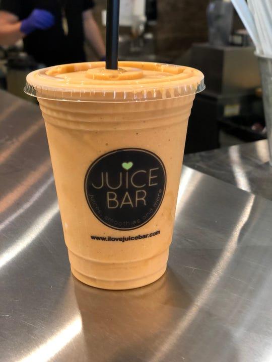 The Autumn Spice smoothie at I Love Juice Bar tastes like a pumpkin pie.