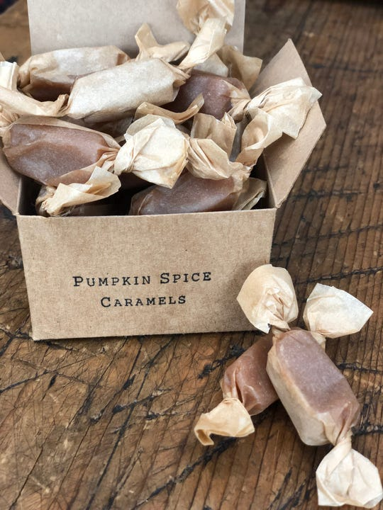 Pumpkin spice caramels from Shotwell Candy Co.