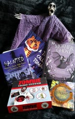 Books with a Halloween theme.