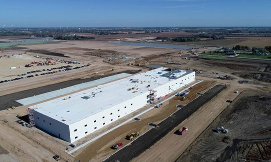 Foxconn so far has put up one building, a 120,000-square-foot structure on the Mount Pleasant site where the company has said it will construct a manufacturing and research complex covering some 20 million square feet.