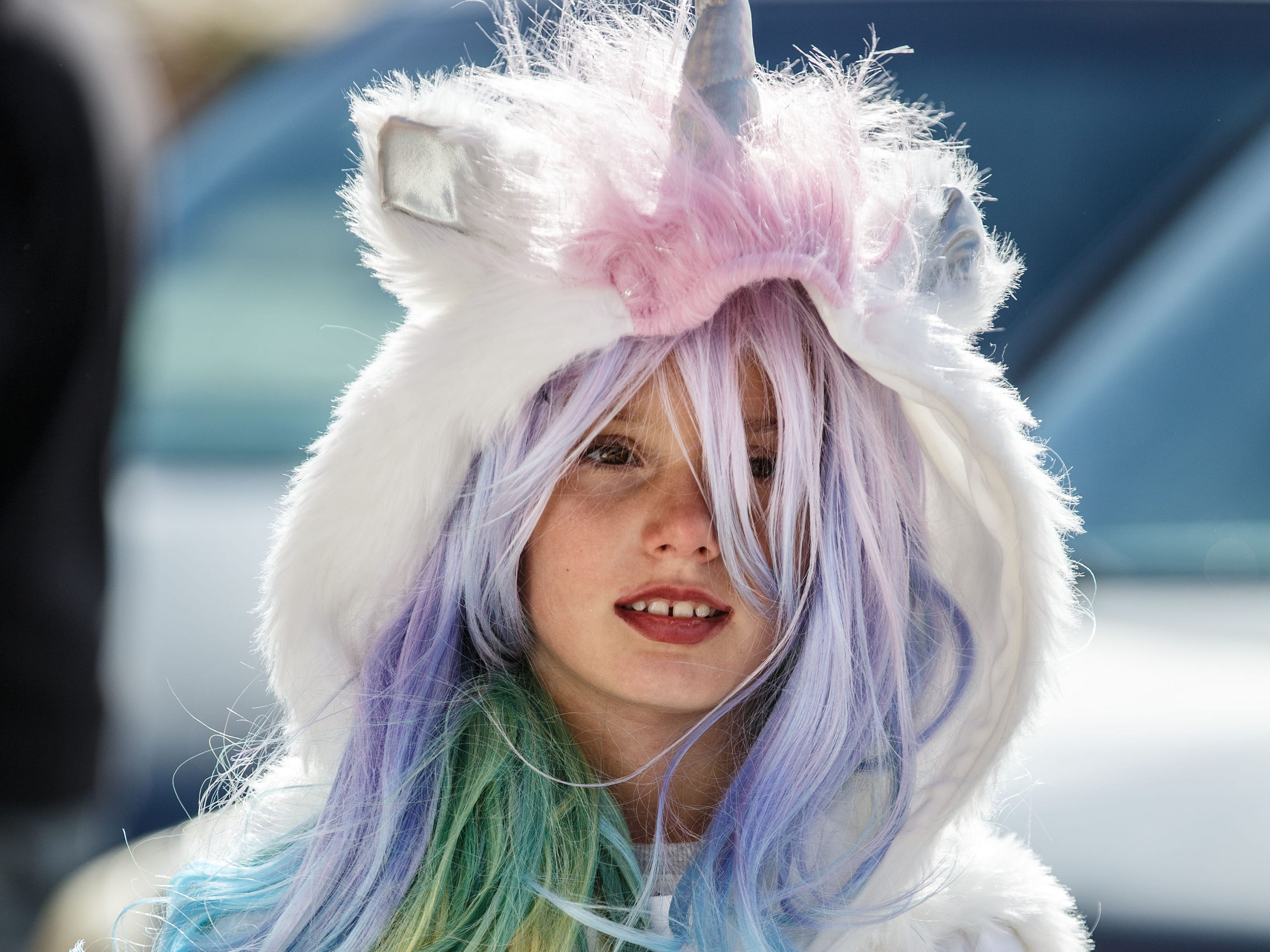 Isabella Brown, 9, of Pewaukee dressed up for trick-or-treating during the annual Halloween Fun Fest in downtown Pewaukee on Saturday, Oct. 20, 2018. The event, hosted by Positively Pewaukee, features a dog costume contest, trick-or-treating, games, crafts and fun from local nonprofits, churches and businesses.