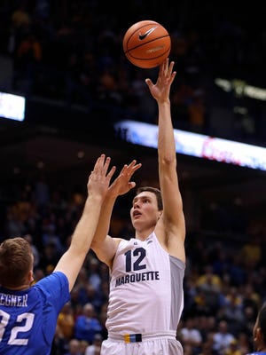 Marquette center Matt Heldt averaged 3.9 points and 4.7 rebounds per game last season.