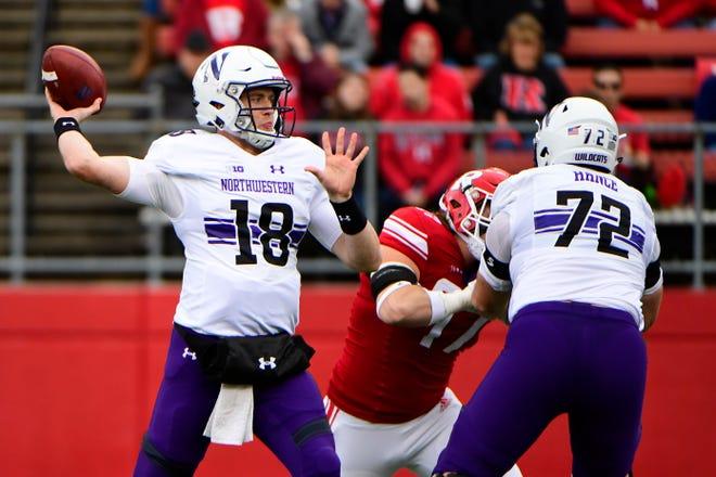 Northwestern quarterback Clayton Thorson is third in the Big Ten in passing yards per game.