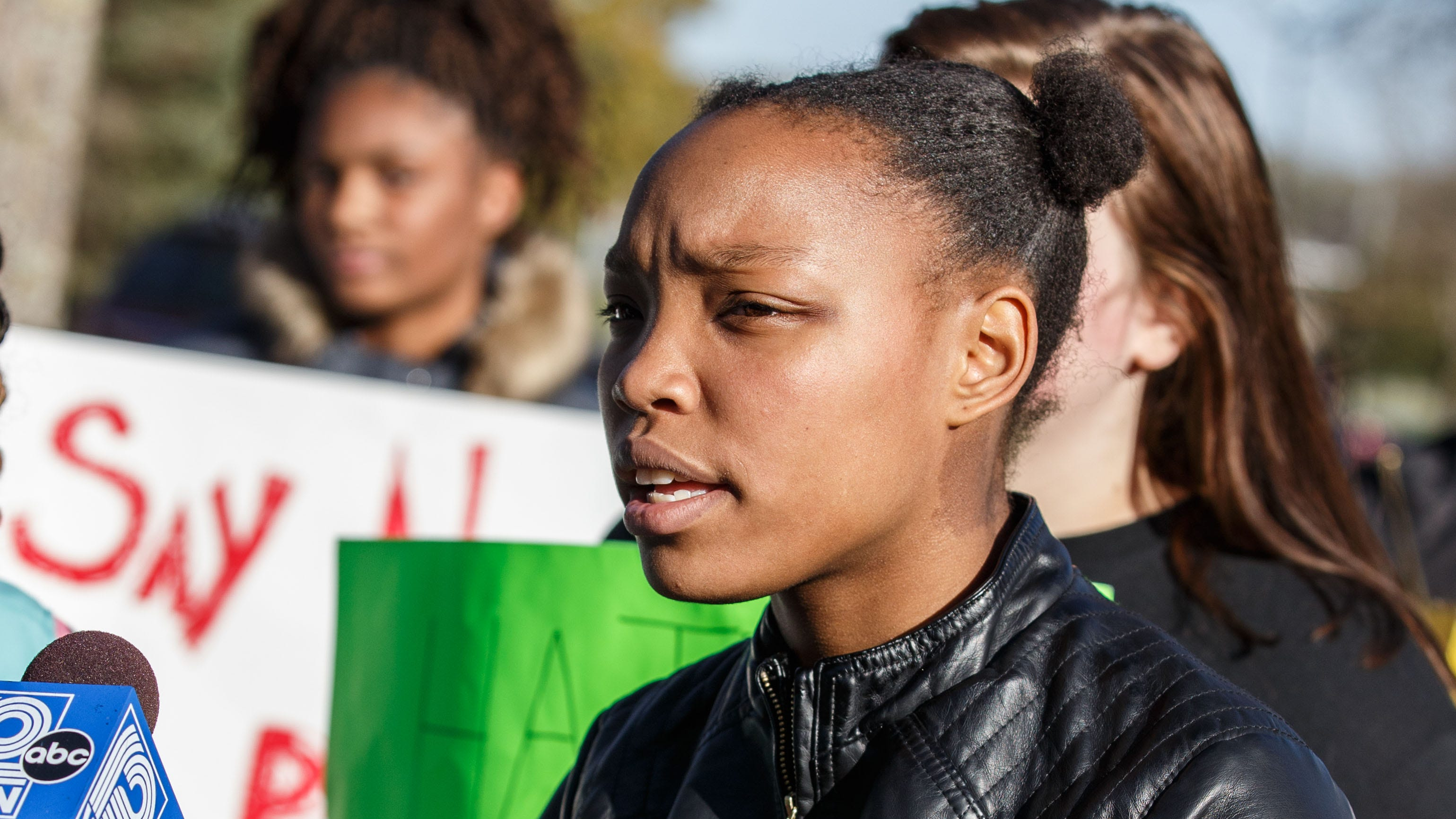 Students and supporters rally against reported racial slurs at Greendale High School