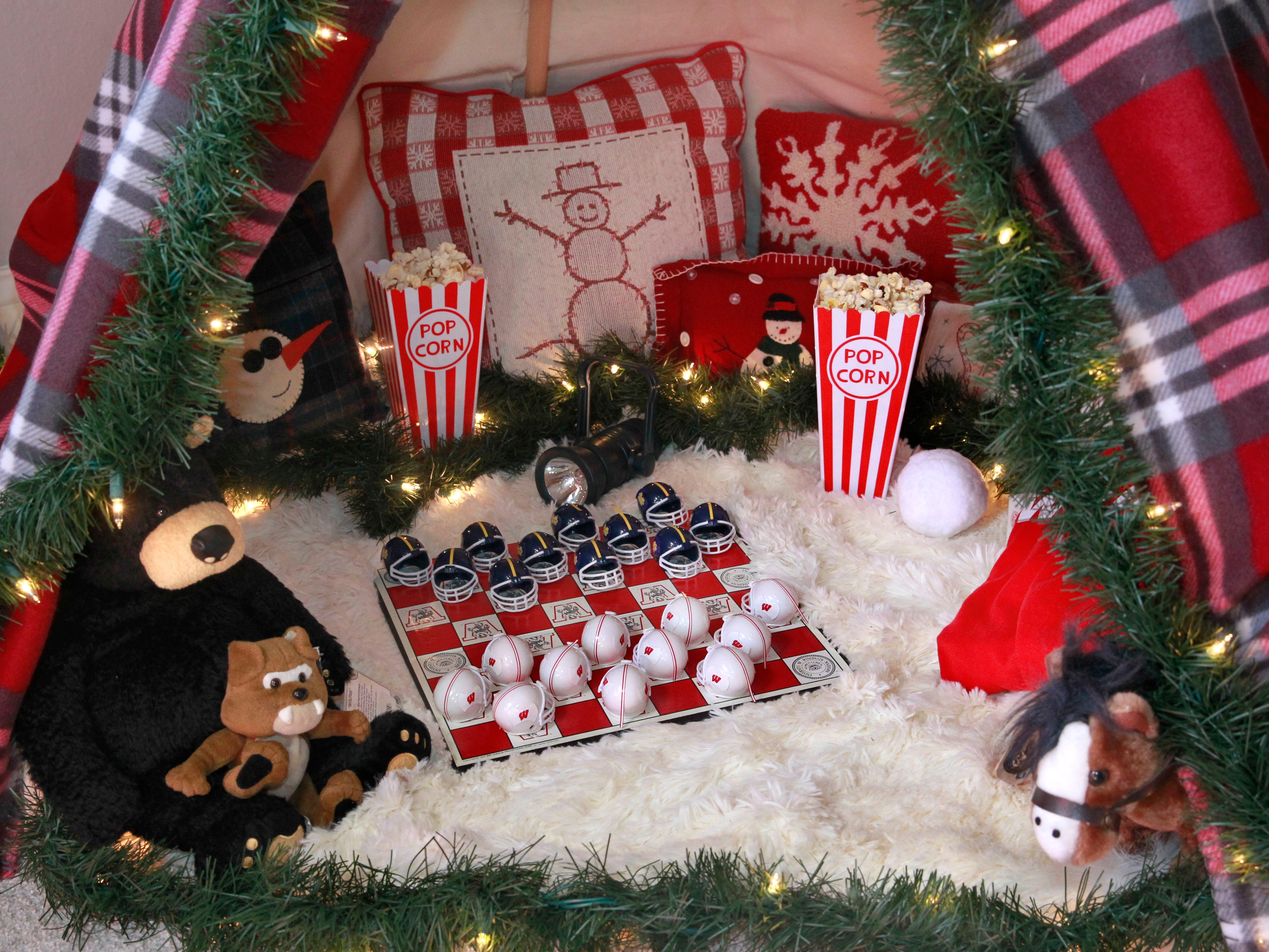 """This children's hideaway space was created in the room called """"A Snow Day."""""""