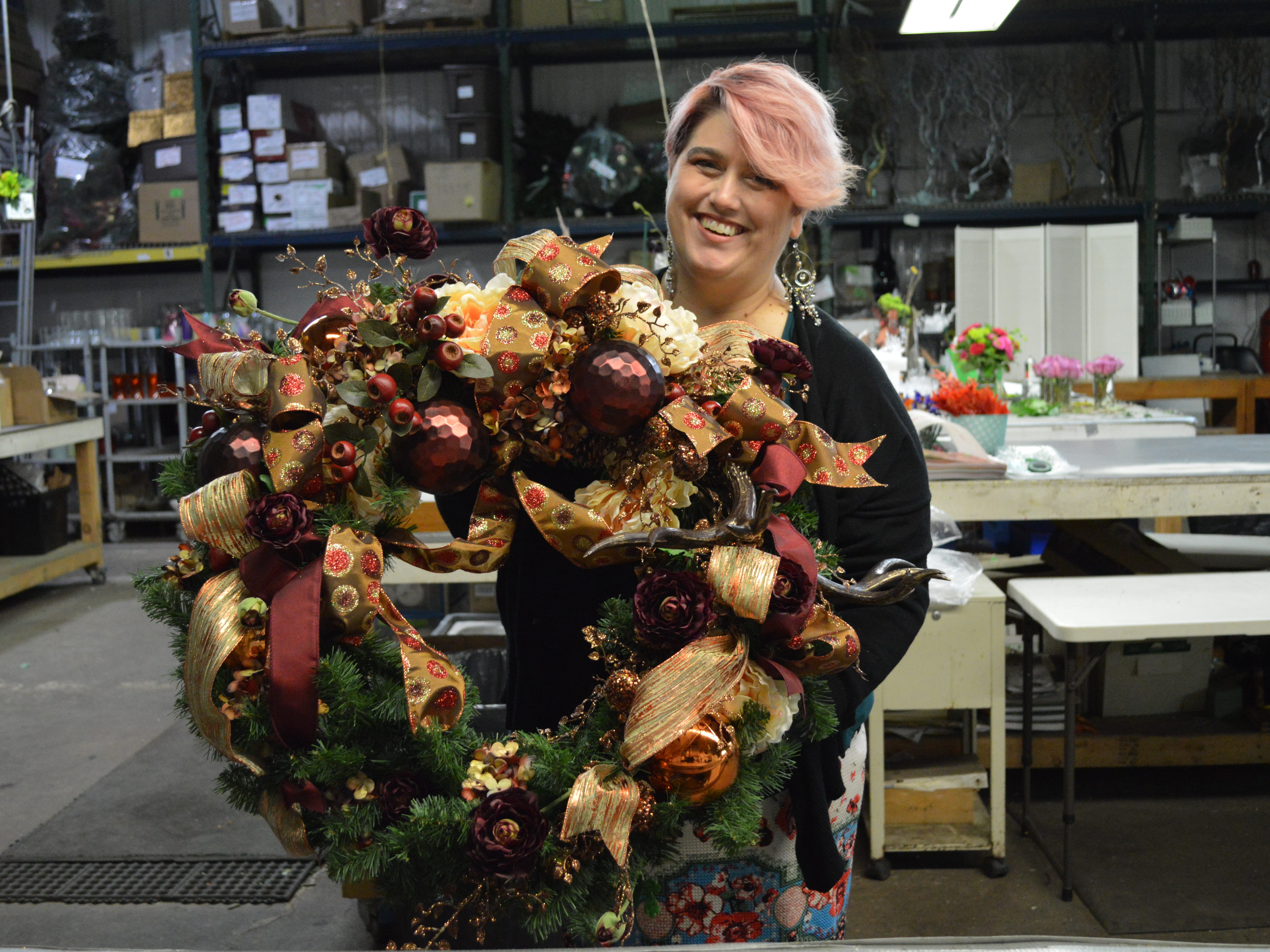 Kimberlee Grob has worked at Locker's Florist for 11 years.