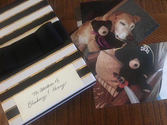 When the teddy bear was returned to Henry Antczak, it came with a journal about the bear's adventure and also photos of his time at the Fadeski home.