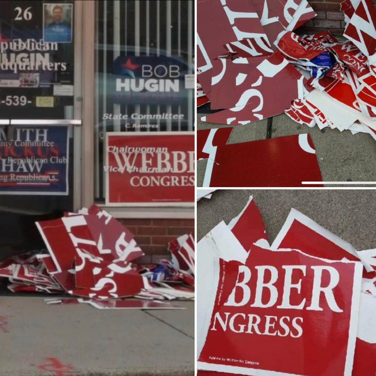 GOP group offers $1,000 reward for information on Webber signs vandalism