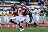 Kevin Hasenbein, a Morristown High School senior with Down syndrome, scored on an 80-yard run against Delbarton.
