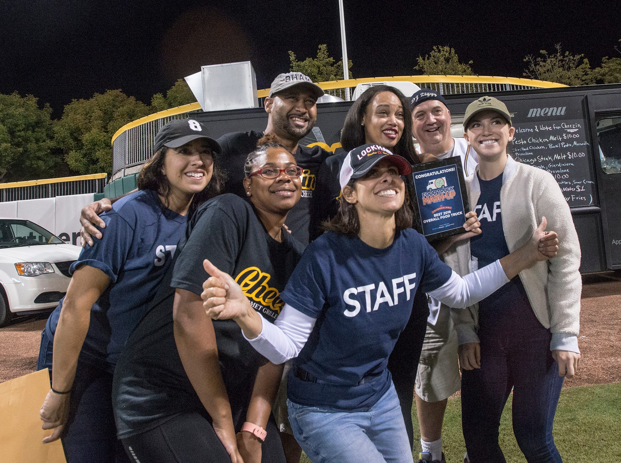 For the third time in a row, Cheezin won the best food truck competition. Food Truck Mash-Up returned to Riverwalk Stadium on Saturday, Oct. 20, 2018, bringing a variety of food trucks, music and games for guests to enjoy.
