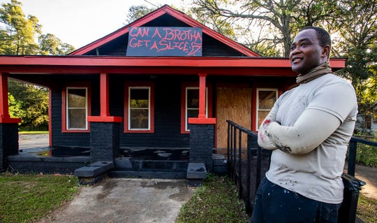 Cedric Sanders plans on opening a pizza shop on Holt Street in Montgomery, Ala. on Monday October 22, 2018.