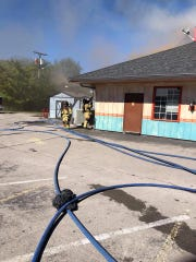 Murfreesboro Fire Rescue Department responded to a fire Sunday morning, Oct. 21, at Azteca Mexican Grill, 301 N.W. Broad St. in Murfreesboro.