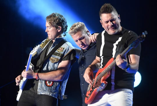 Rascal Flatts performs during the CMA Fest at Nissan Stadium in 2017.
