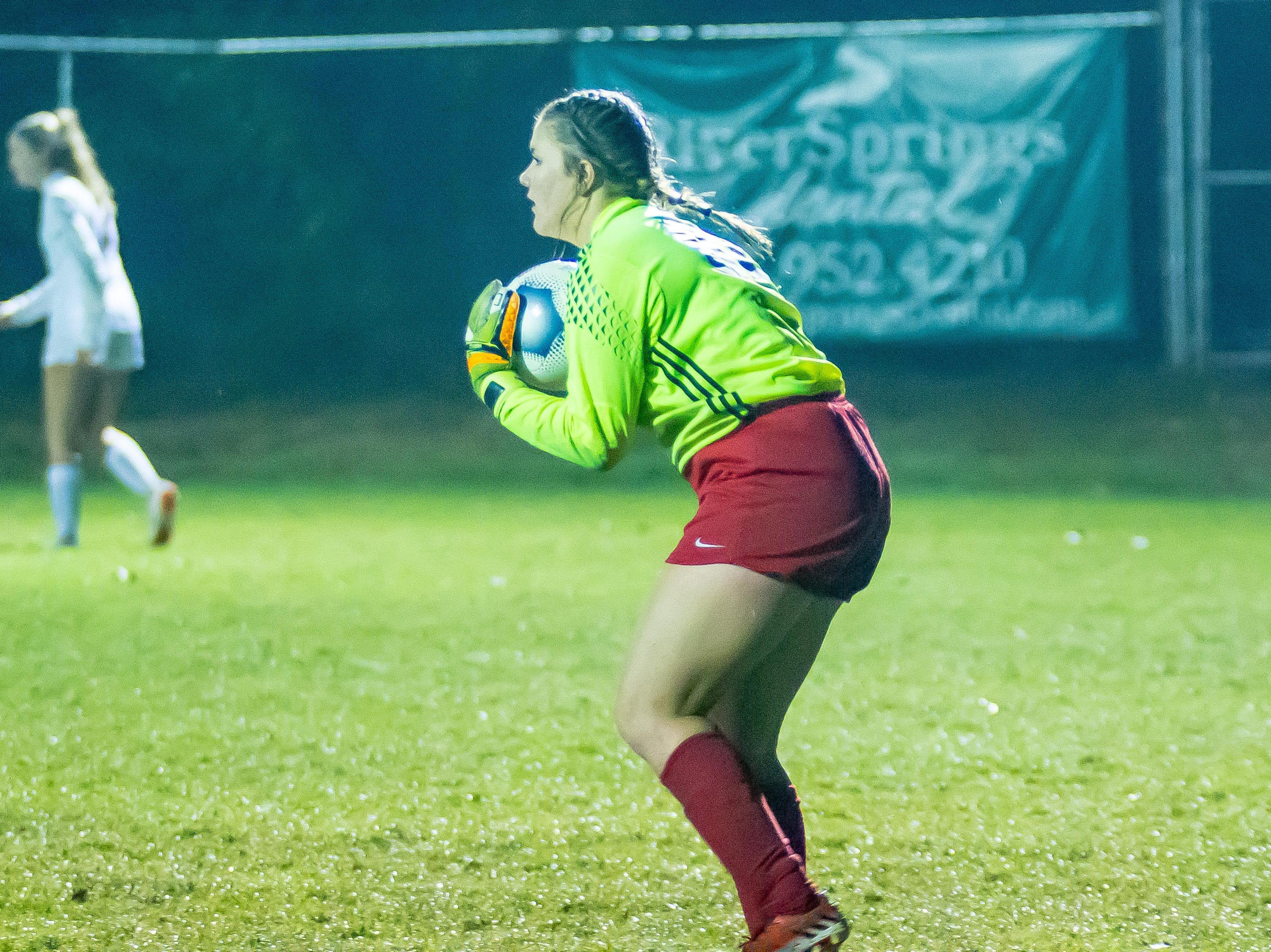 Harpeth goalkeeper Emelia Hurt gets the shutout against Richland.