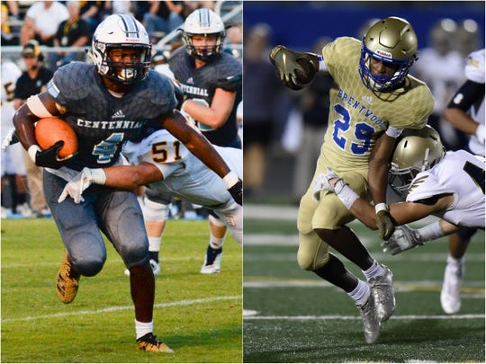 Centennial's Jariel Wilson (left) and Brentwood's Avery Williams (right)