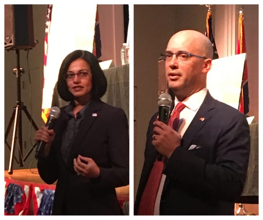 Dr. Hana Ali and Johnny Garrett are running for the District 45 seat in the state House of Representatives.