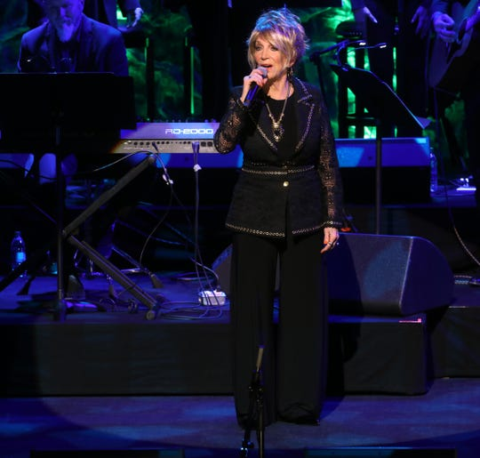 Jeannie Seely performs while honoring Dottie West during the 2018 Medallion Ceremony held at the CMA Theater in the Country Music Hall of Fame on Sunday, Oct. 21, 2018.