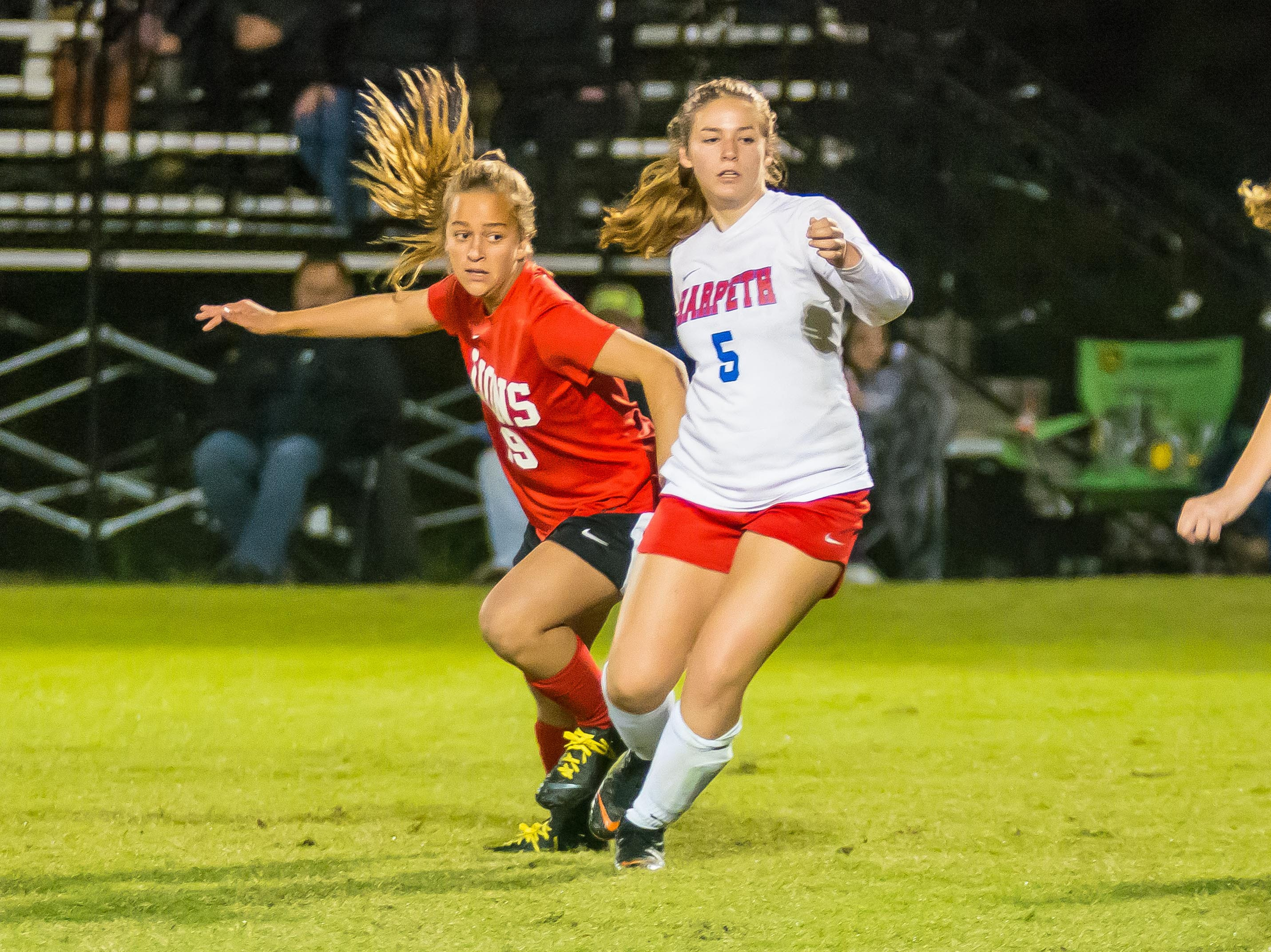 Grace Christian freshman Adyson Wolf added the last goal of the evening to make it a 4-0 against Harpeth. It marked the first time all season Harpeth had been shut out all season.