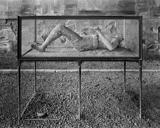 "William Wylie, American, b. 1957, ""Body Cast, Macellum (VII.9.7), Pompeii (detail),""2015, archival pigment print, 37""x45""."