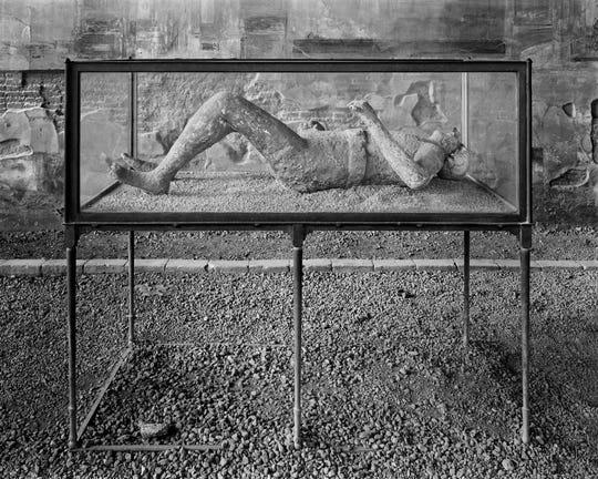 "William Wylie, American, b. 1957, ""Body Cast, Macellum (VII.9.7), Pompeii (detail),""2015, archival pigment print, 37""x45""."