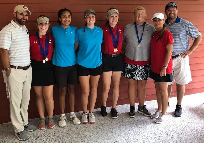 Senior Mallory Anderson and junior Breanna Cook of Cheatham County Central High School and sophomore Nichole Meadows of Harpeth High School played in the Small Class State Golf Tournament on Oct. 9 and 10.