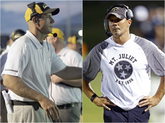 Hendersonville coach James Beasley (left) and Mt. Juliet coach Trey Perry (right)