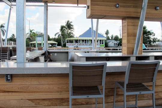 A view of Three60 Market from the bar at the new Celebration Park across Haldeman Creek on Bayshore Drive in East Naples.