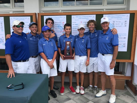 The Community School of Naples boys golf team finished second on Monday in the Class 1A regional to advance to the state tournament.