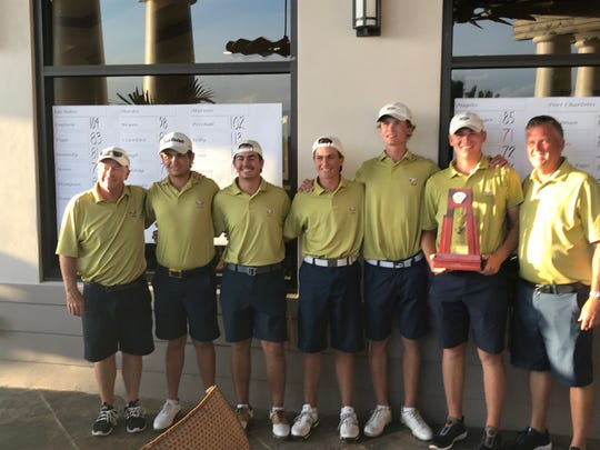 The Naples boys golf team cruised to the Region 2A-7 title Monday afternoon at The Quarry.