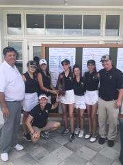 The Bishop Verot girls golf team advanced to second with a second place finish at the Class 1A Region 6 meet at Laurel Oak Golf Club in Sarasota on Monday. They shot a 334.