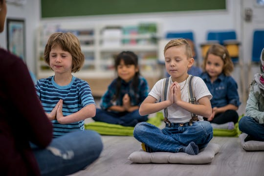 Mindfulness technique may also help children focus.